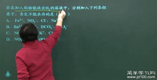 离子,我想问一下物理所有不共存的高中及_高高中老师英文图片