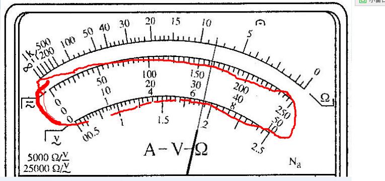 多用电表的直流电流和直流电压怎么读?
