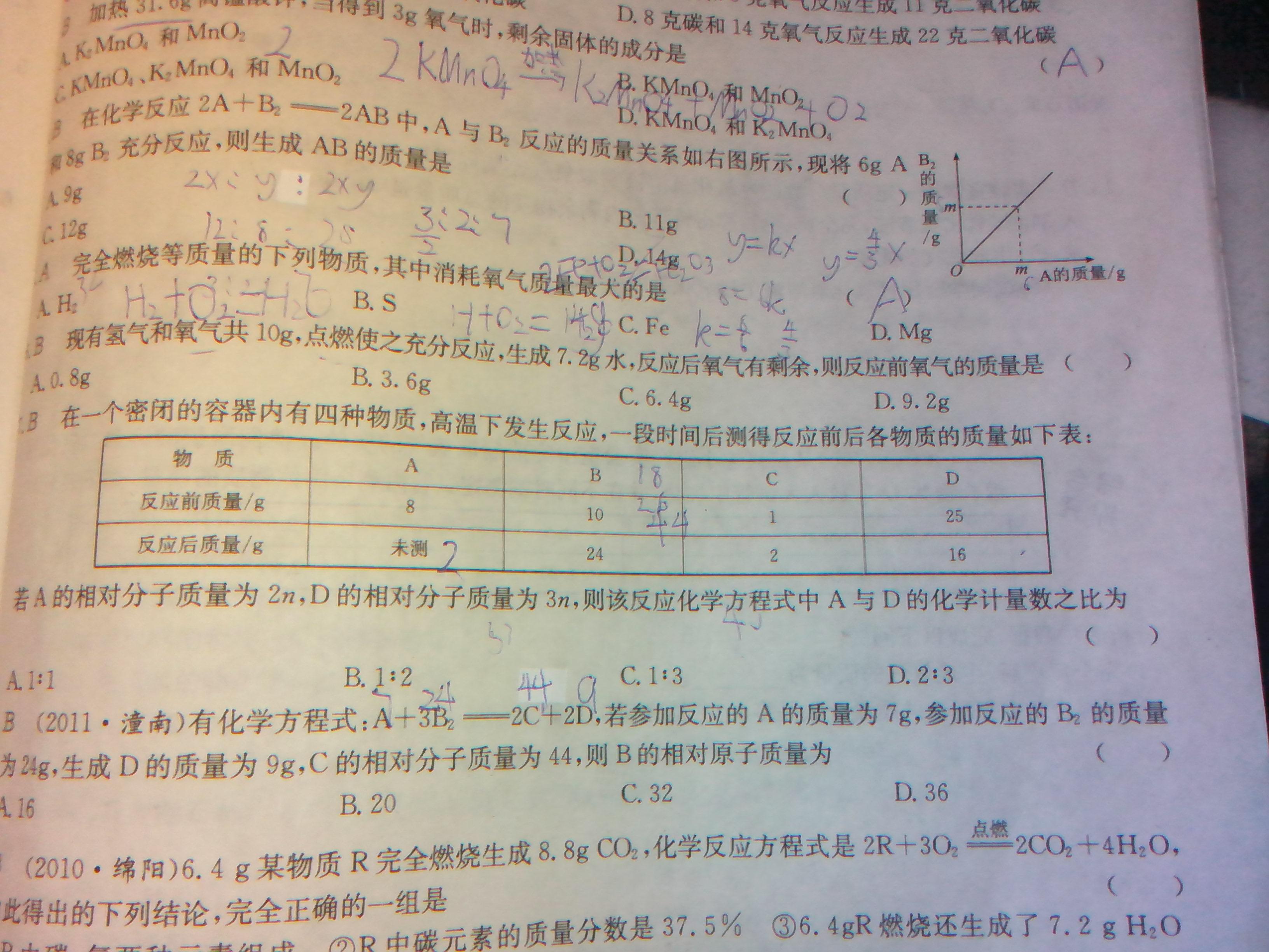 化学方程式的简单计算