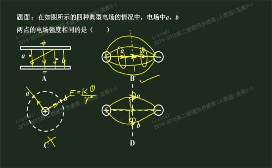 高二物理电场知识结构图