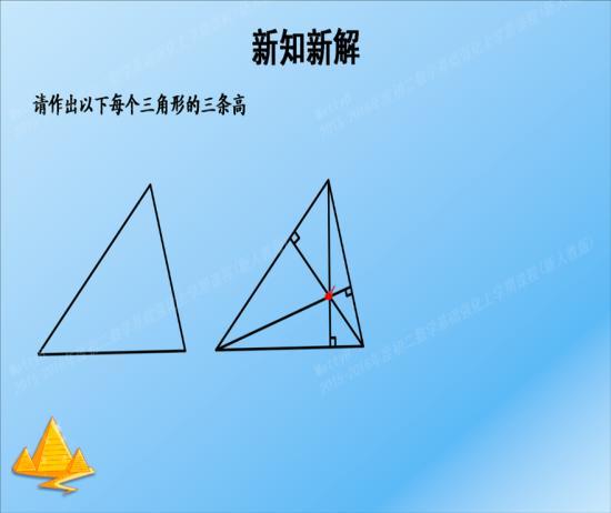 画三角形的高,使用实线还是虚线