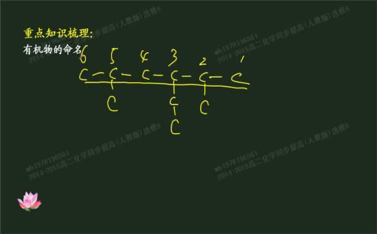 对苯环上的6个碳原子编号
